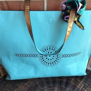 Tiffany Blue Large Tote Bag